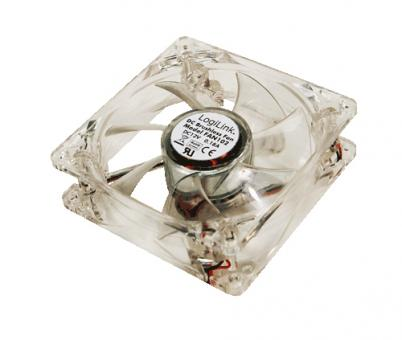 LogiLink PC case fan - Computergehäuse - Ventilator - 8 cm - 32,6 dB - 30000 h - Transparent | FAN102